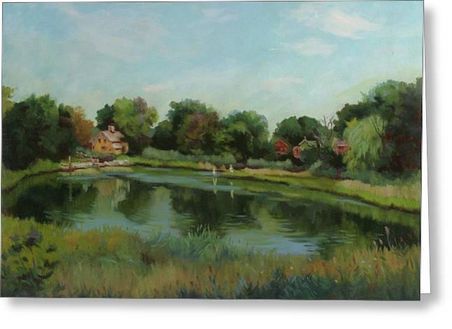 Stratford Ct Greeting Cards - Sky Pond Greeting Card by Bruce Zboray