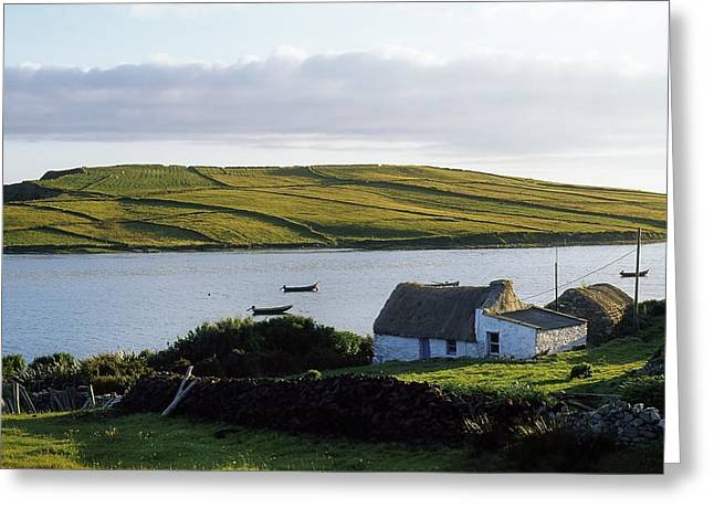 Connaught Greeting Cards - Sky Road, Co Galway, Ireland Greeting Card by The Irish Image Collection