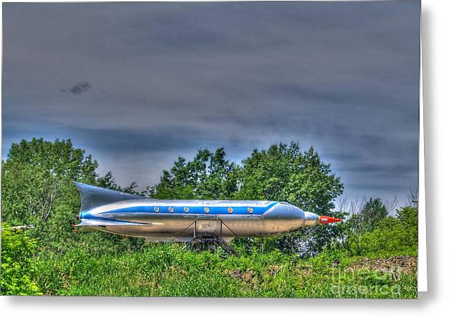 Jet-propelled Greeting Cards - Sky Rocket I  Greeting Card by Jimmy Ostgard