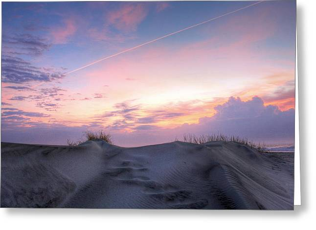 Wrightsville Beach Greeting Cards - Sky Streaking Greeting Card by JC Findley