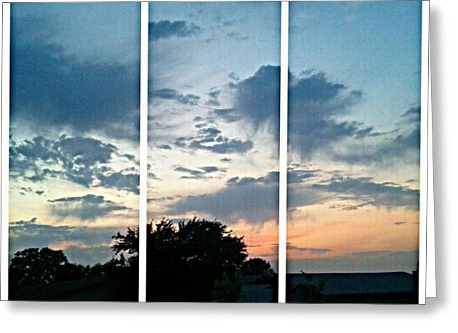 #sky #sunset #clouds #andrography Greeting Card by Kel Hill
