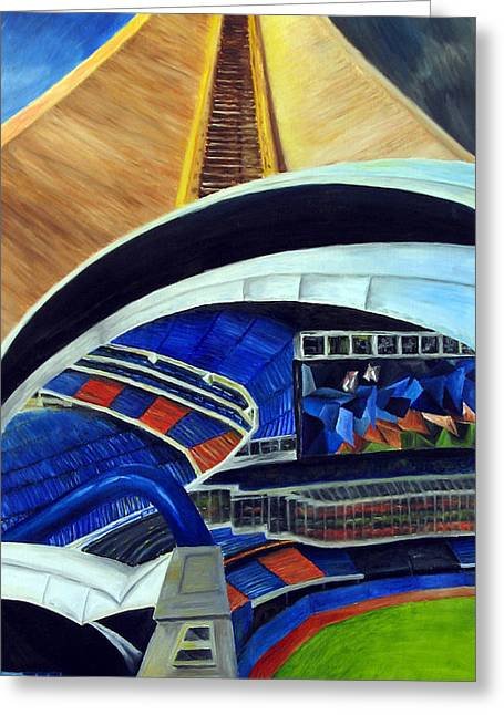 Skydome Greeting Card by Chris Ripley