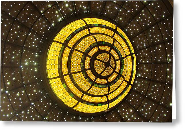 Dome Light Greeting Cards - Skydome Greeting Card by Vijay Sharon Govender