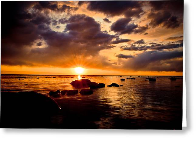 Sunset Prints Photographs Greeting Cards - Skyfire Greeting Card by Jason Naudi Photography