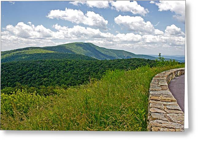 Mountain Road Greeting Cards - SkyLine Drive Greeting Card by Tom Gari Gallery-Three-Photography