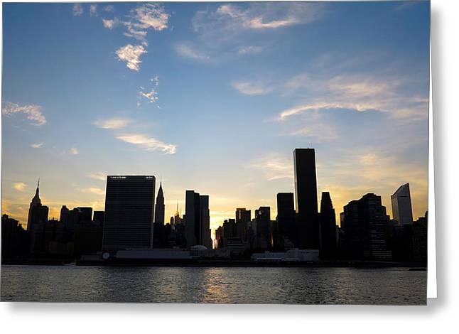 Skyline Sunset Silhouette Greeting Card by Heidi Hermes