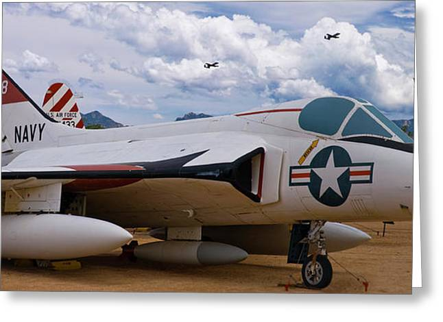 Usaf Greeting Cards - Skyray and Hawgs Greeting Card by Tim Mulina