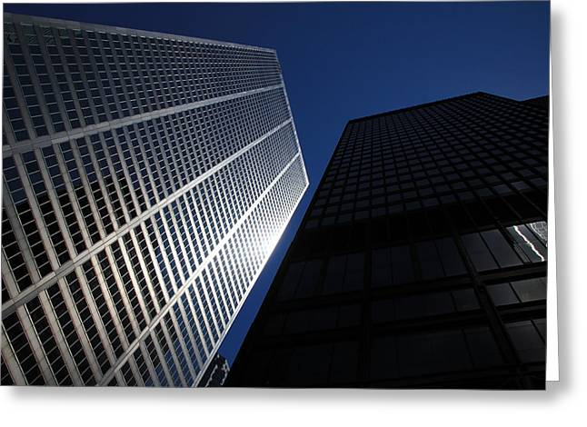 Great Architect Greeting Cards - Skyscraper 2 Greeting Card by Andrew Fare