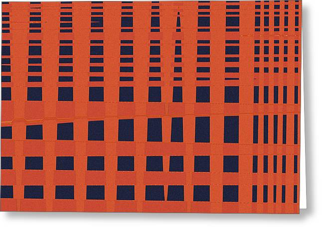 Crossed Lines Greeting Cards - Skyscraper Greeting Card by Bonnie Bruno