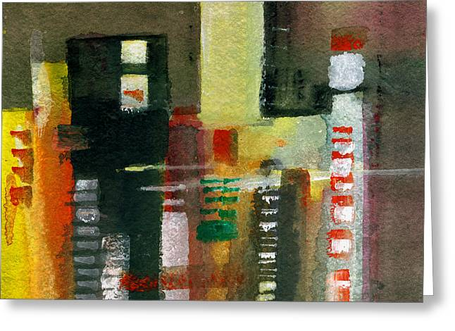 Unique View Mixed Media Greeting Cards - Skyscrapers Greeting Card by Anil Nene