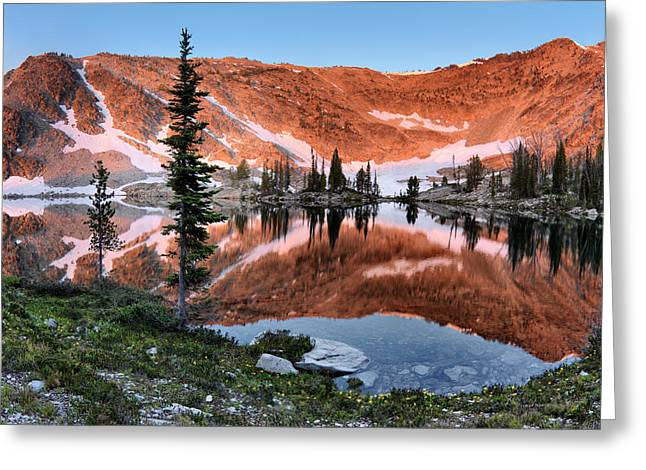 Altitude Greeting Cards - Skytop Sunrise Greeting Card by Leland D Howard