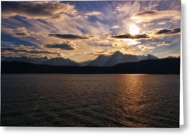 Alaska Prints Greeting Cards - Skyward Greeting Card by James Heckt