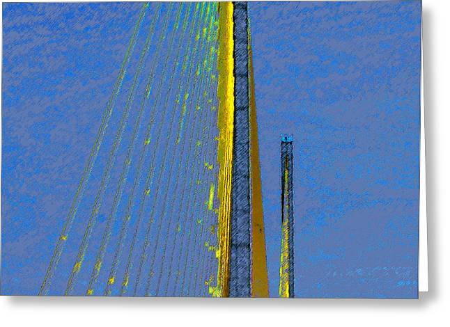 Skyway crossing Greeting Card by David Lee Thompson