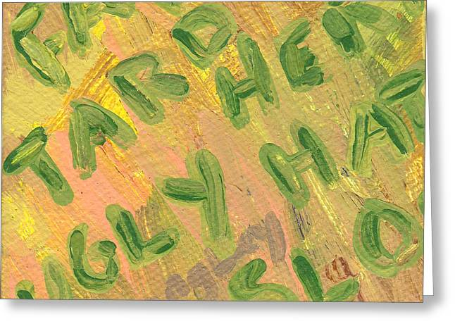 Slap Greeting Card by Helena M Langley