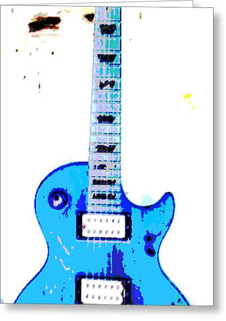 Web Gallery Greeting Cards - Slashs guitar Greeting Card by David Alvarez