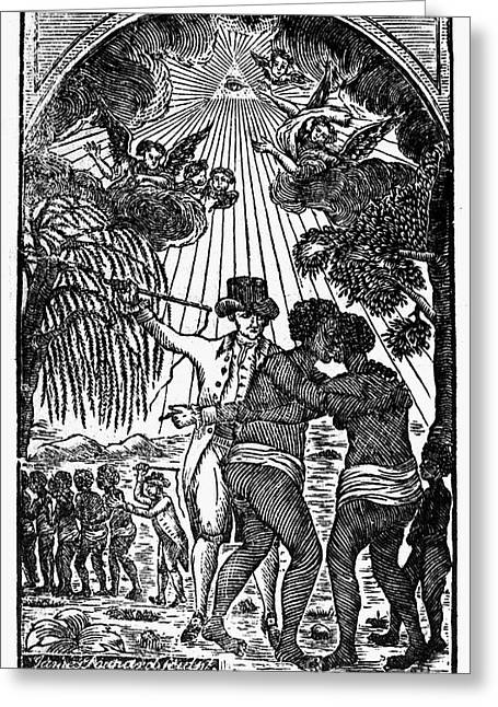Abolition Greeting Cards - Slave Couple Separated Greeting Card by Granger