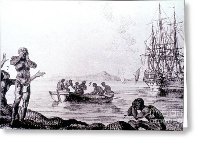 Slave Ship Greeting Cards - Slave Trade, 1783 Greeting Card by Granger