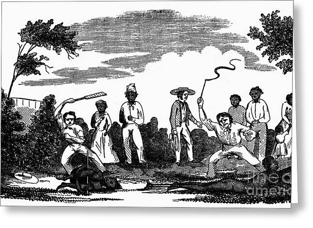 Slavery Greeting Cards - Slavery: Punishment Greeting Card by Granger