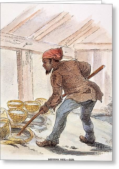 Black Commerce Greeting Cards - Slavery: Saltworks, 1857 Greeting Card by Granger