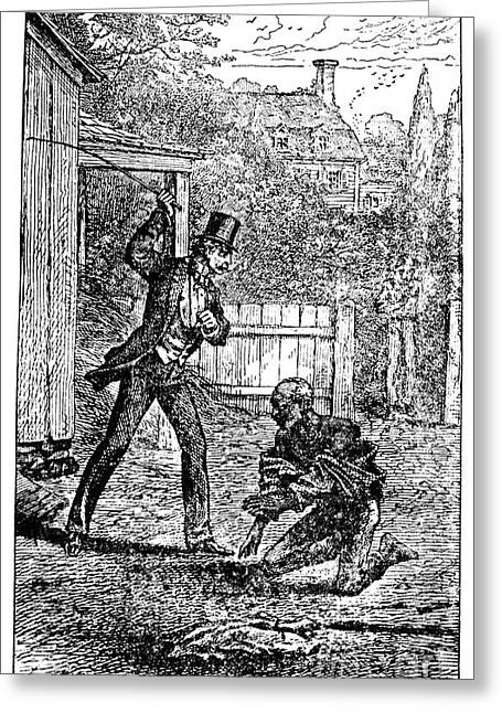 Douglass Greeting Cards - Slavery: Whipping Greeting Card by Granger