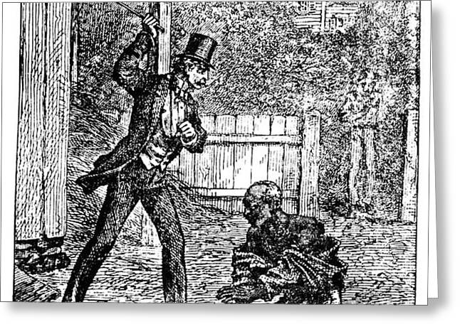 SLAVERY: WHIPPING Greeting Card by Granger