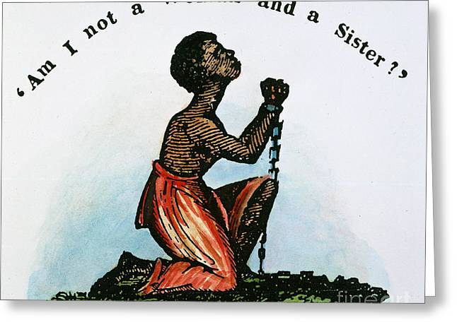 Abolition Greeting Cards - Slavery: Woman, 1832 Greeting Card by Granger