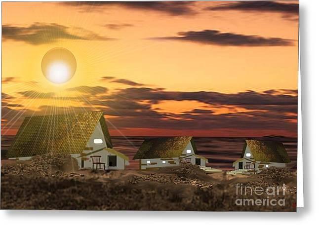 Slaves Homes Greeting Card by Belinda Threeths