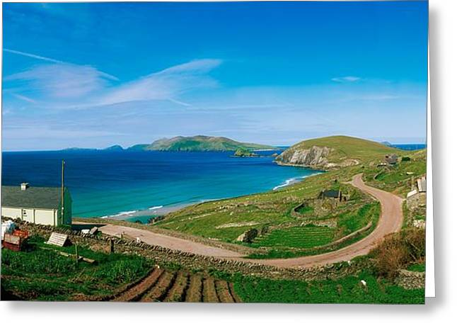 Ocean Panorama Greeting Cards - Slea Head & Blasket Islands, Dingle Greeting Card by The Irish Image Collection