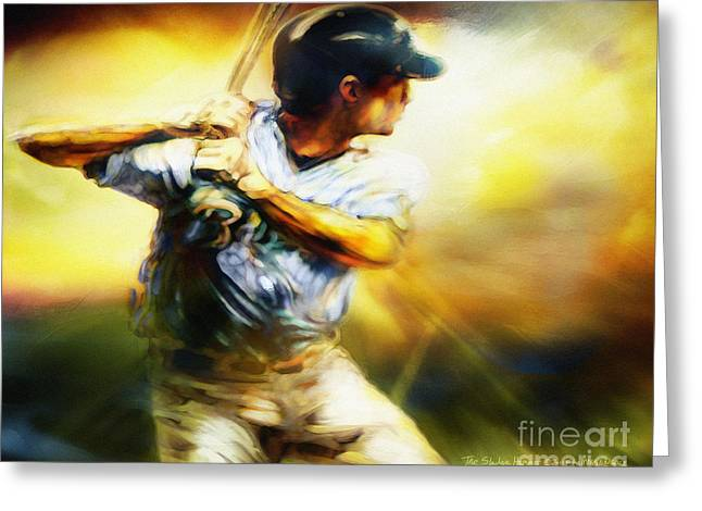 Batter Paintings Greeting Cards - Sledge Hammer Greeting Card by Mike Massengale