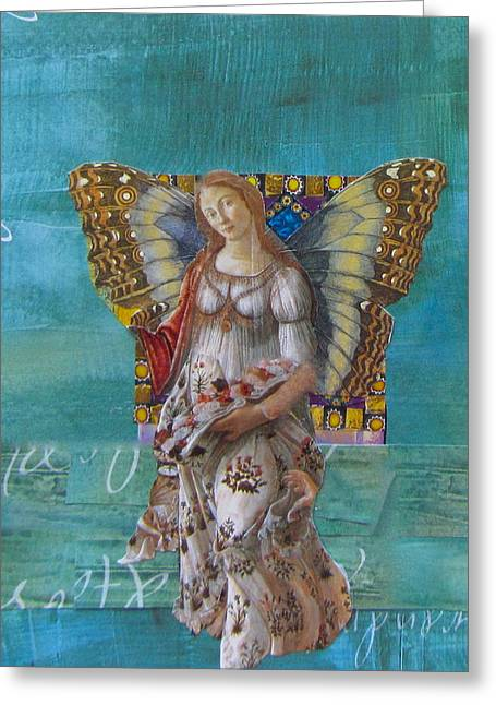 Ideal Mixed Media Greeting Cards - Sleep To Dream Her Greeting Card by Kanchan Mahon