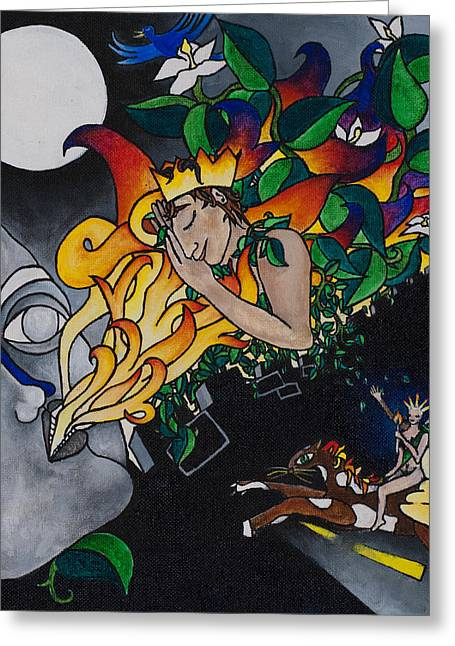 Warrior Goddess Greeting Cards - Sleeping Beauty Greeting Card by Eliza Furmansky