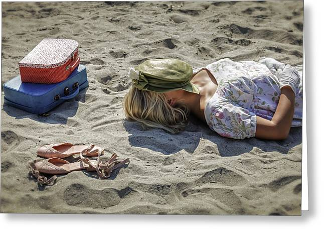 Sun Hat Greeting Cards - Sleeping Beauty Greeting Card by Joana Kruse
