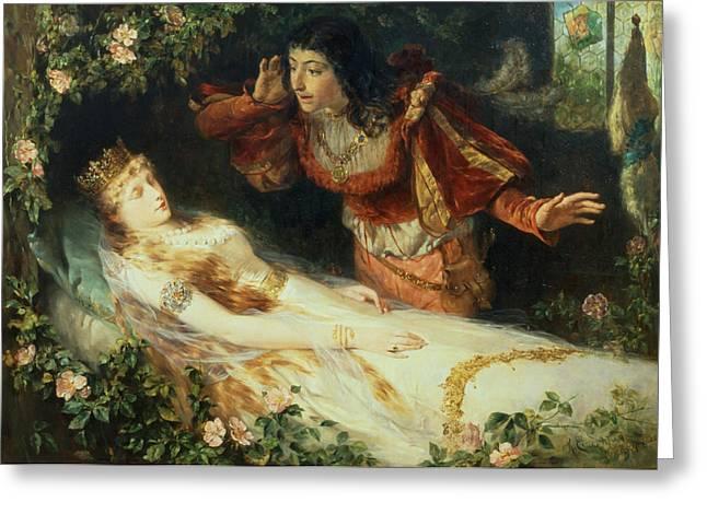 Children Literature Greeting Cards - Sleeping Beauty Greeting Card by Richard Eisermann