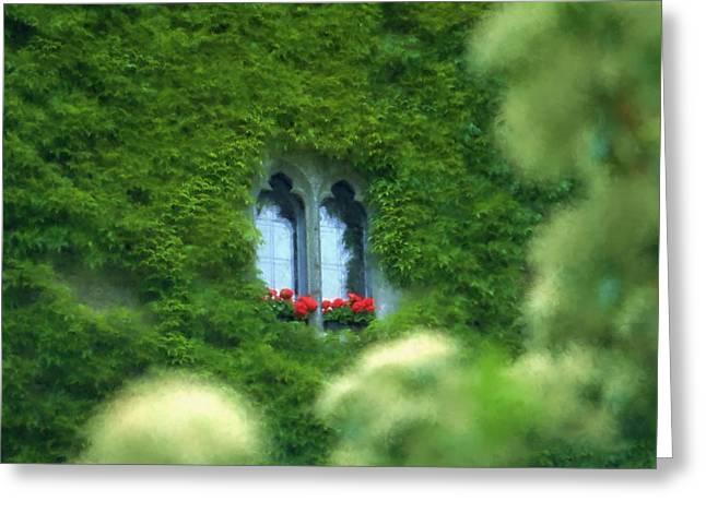 Sleeping Beautys Castle -- Dornroeschens Schloss Greeting Card by Arthur V Kuhrmeier
