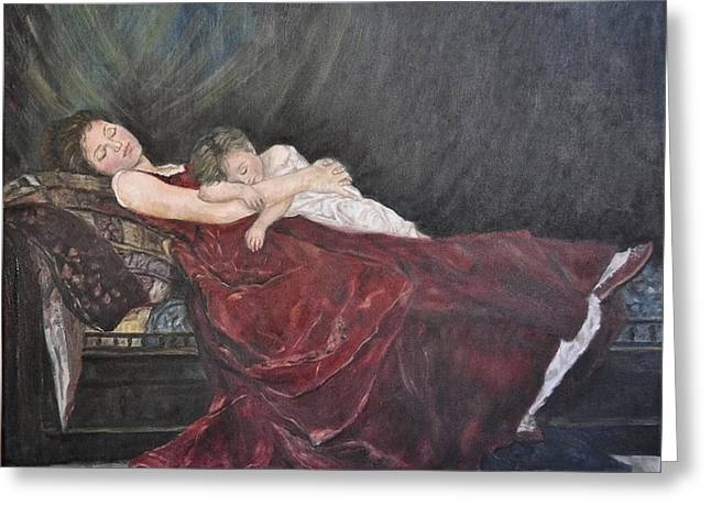 18th Century Greeting Cards - Sleeping Peacefully Greeting Card by Terry Sita
