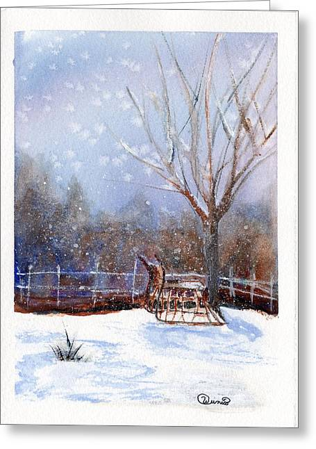 Sleigh Ride Greeting Card by Wendy Cunico