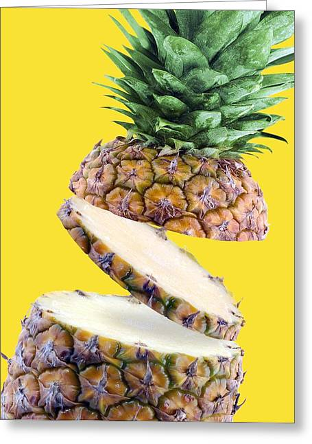 Ananas Greeting Cards - Sliced Pineapple Greeting Card by Victor Habbick Visions