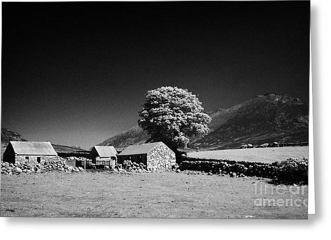 Outbuildings Greeting Cards - Slieve Binnian And Surrounding Countryside County Down Northern Ireland Greeting Card by Joe Fox