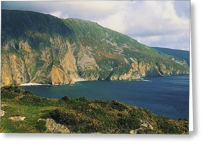 Ocean Panorama Greeting Cards - Slieve League, Co Donegal, Ireland Greeting Card by The Irish Image Collection