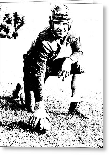Slingin' Sammy Baugh 1937 Litho Greeting Card by Padre Art