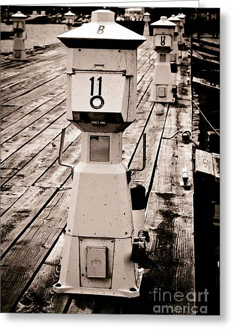 Boat Slip Greeting Cards - Slip 11 Greeting Card by Shutter Happens Photography