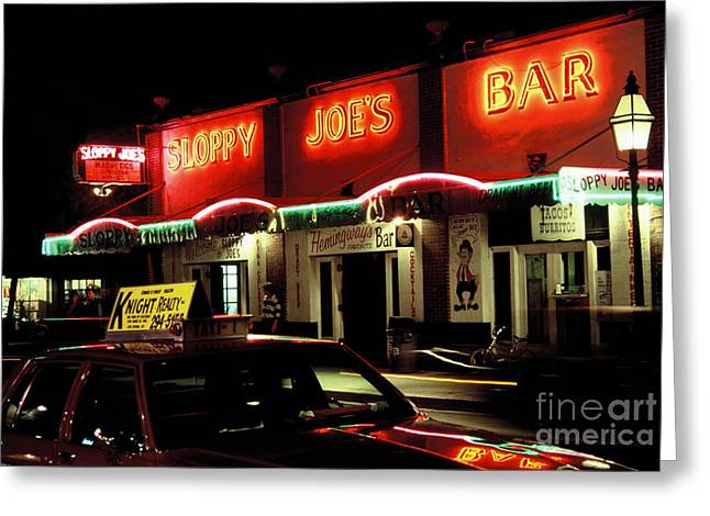 Photographers Dacula Greeting Cards - Sloppy Joes Key West Florida Greeting Card by Corky Willis Atlanta Photography