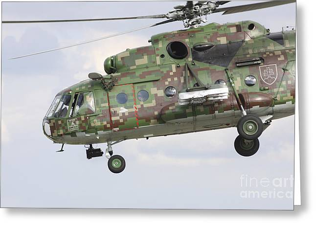 Hradec Greeting Cards - Slovak Air Force Mi-17 Hip In Digital Greeting Card by Timm Ziegenthaler