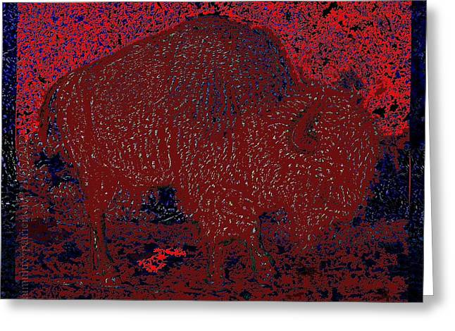 Slumbering Greeting Cards - Slumbering Red Greeting Card by Mimulux patricia no