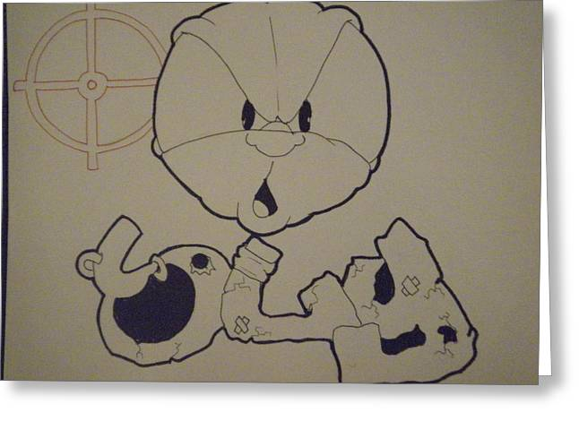 Ambition Drawings Greeting Cards - Sly - Unfinished Greeting Card by Mr Ambition