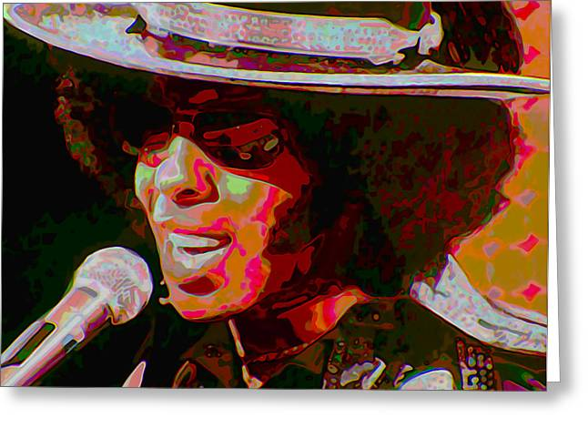 Sly Greeting Cards - Sly Stone Greeting Card by  Fli Art