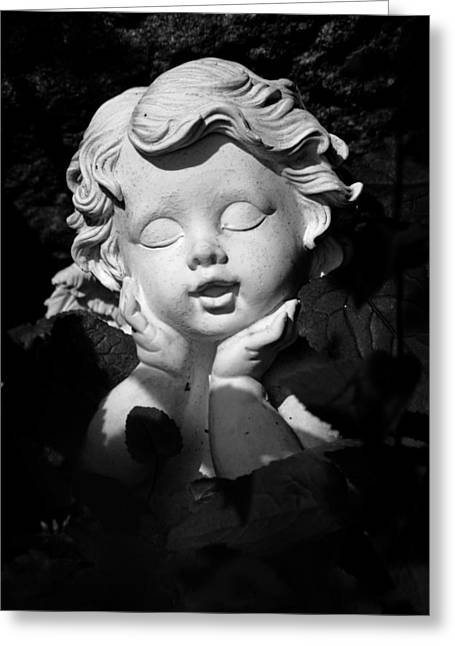 Childish Dreams Greeting Cards - Small angel in the sun Greeting Card by Marc Huebner