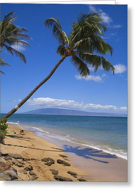 Lahaina Greeting Cards - Small beach in Lahaina Greeting Card by Ron Dahlquist - Printscapes