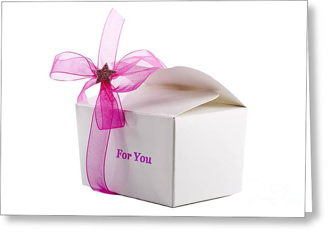 Present For You Greeting Cards - Small box of chocolates Greeting Card by Simon Bratt Photography LRPS