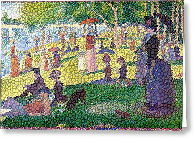 La Grande Jatte Greeting Cards - Small Bubbly Sunday on La Grande Jatte Greeting Card by Mark Einhorn